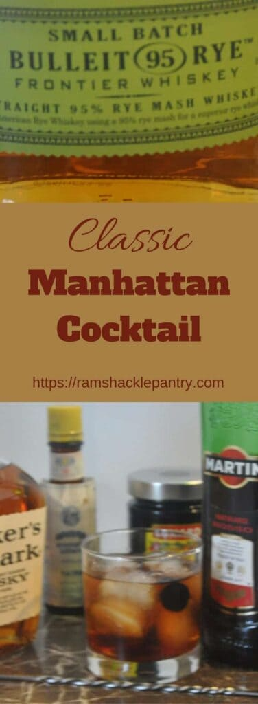 Mix yourself a bit of Americana with the Manhattan cocktail. This is a favorite of mine and hope you give it a try. Get the recipe at ramshacklepantry.com #cocktail #mixologist #whiskey