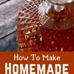 """""""How To Make Homemade Gin"""" with an image of a bottle of gin"""