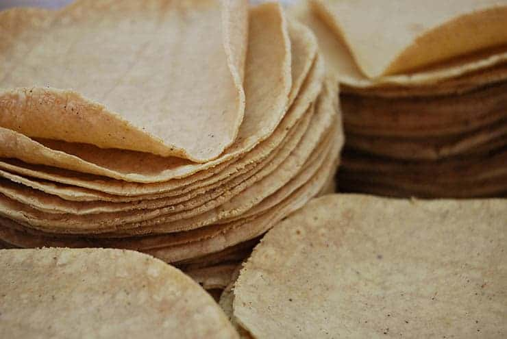 corn tortilla in recipe for enchiladas