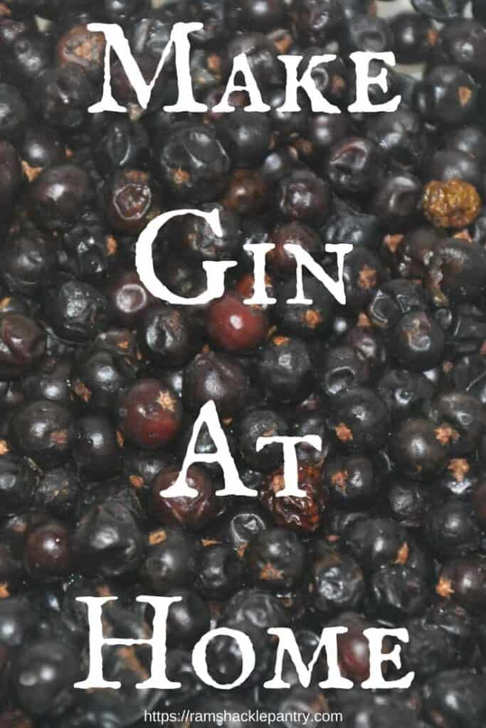 Make Gin Right at home! Spice your own vodka to make a great rustic gin you can be proud of. #gin #drinks #cocktails #vodka