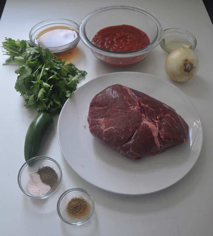 shredded beef recipe ingredients