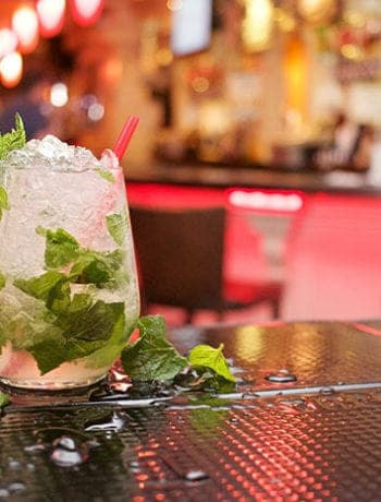 mojito in bar - best rum for mojito