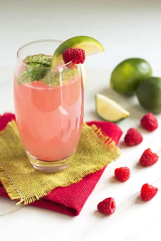 Mojito recipe variation - raspberry