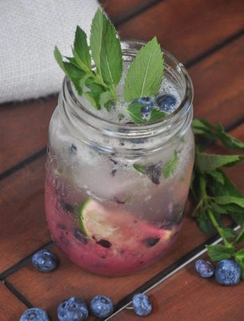 Honey Blueberry Mojito