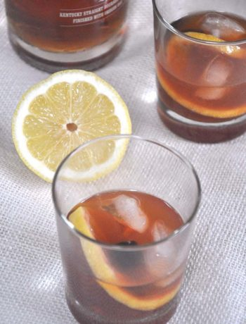 finished old fashioned cocktail