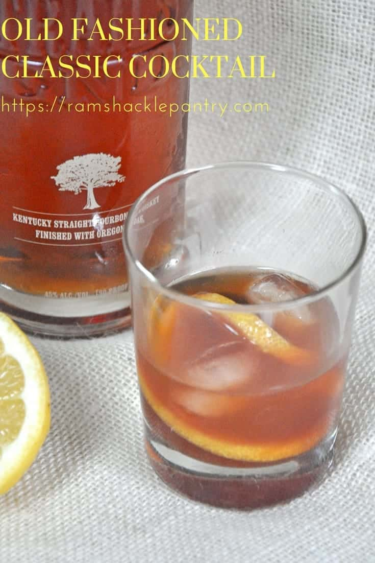 old fashioned drink recipe instructions