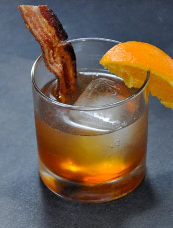 Bacon Bourbon Maple Old Fashioned cocktail