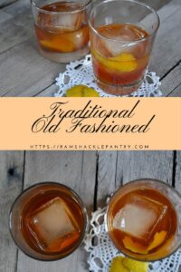 traditional bourbon old fashioned recipe pin