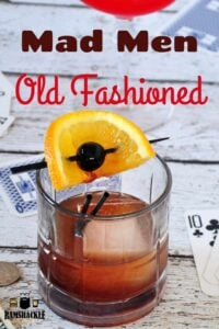Mad Men Old Fashioned pin