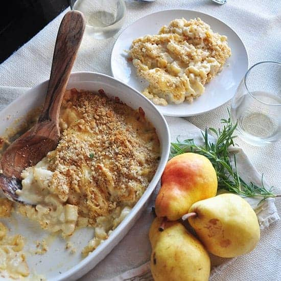 pear and gouda macaroni and cheese recipe
