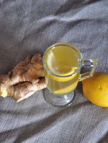Hot Toddy Wrap Up - This is a picture of a toddy with lemon and ginger on grey cloth