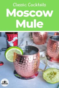 Classic Cocktails Moscow Mule in a copper cup and Cock N Bull ginger beer