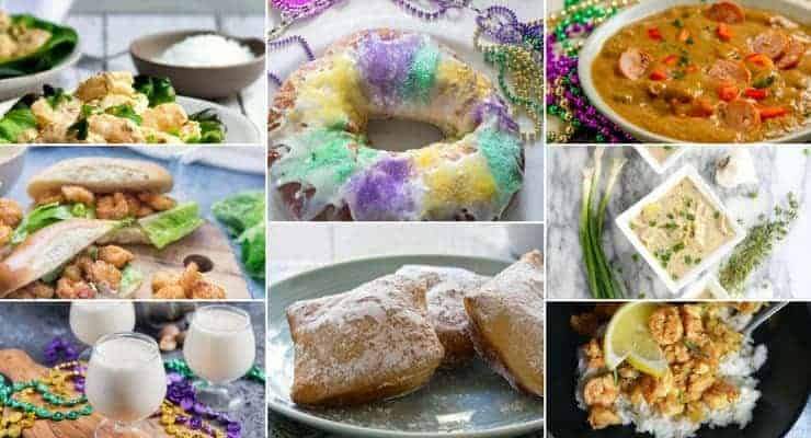 A collage of all the other New Orleans recipes shown on this post