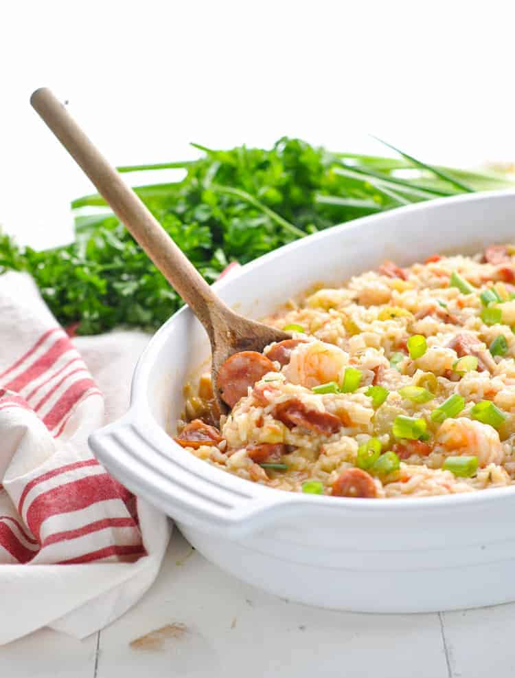Dump and Bake Jambalaya for Casserole Recipes