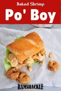 Po' Boy on a white sheet of wax paper