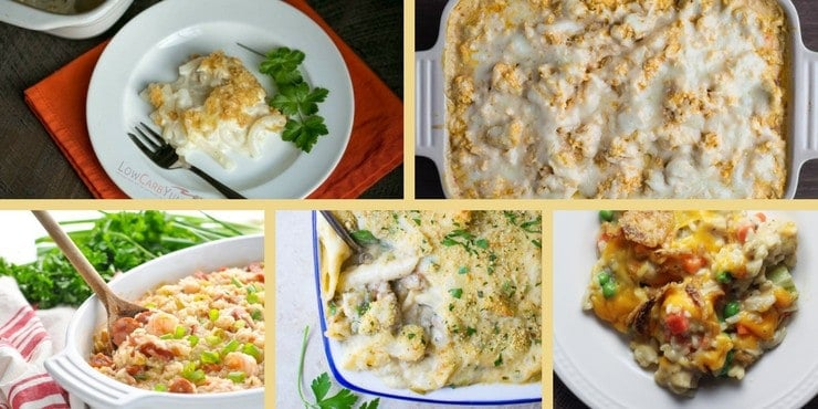 hotdish and casserole recipes round up featured image - all of the images in one