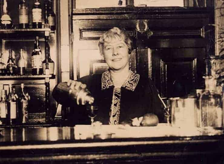 Ada Coleman, a Savoy bartender, serving up a drink. Probably not a greyhound drink.
