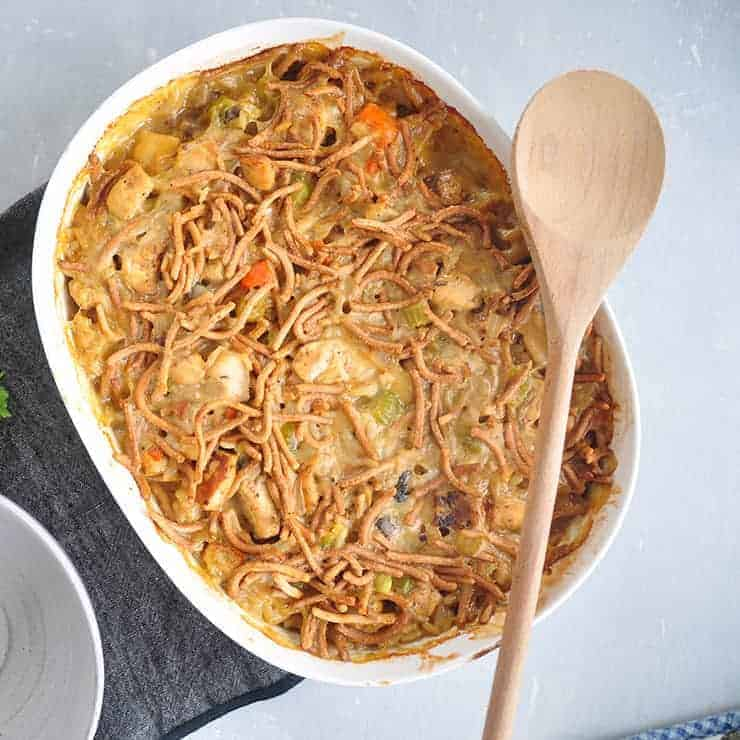 finished chicken chow mein