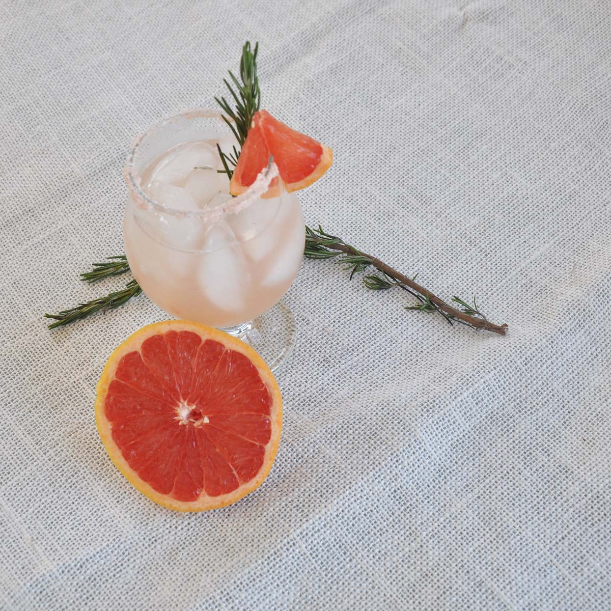 another shot of the rosemary infused salty dog cocktail