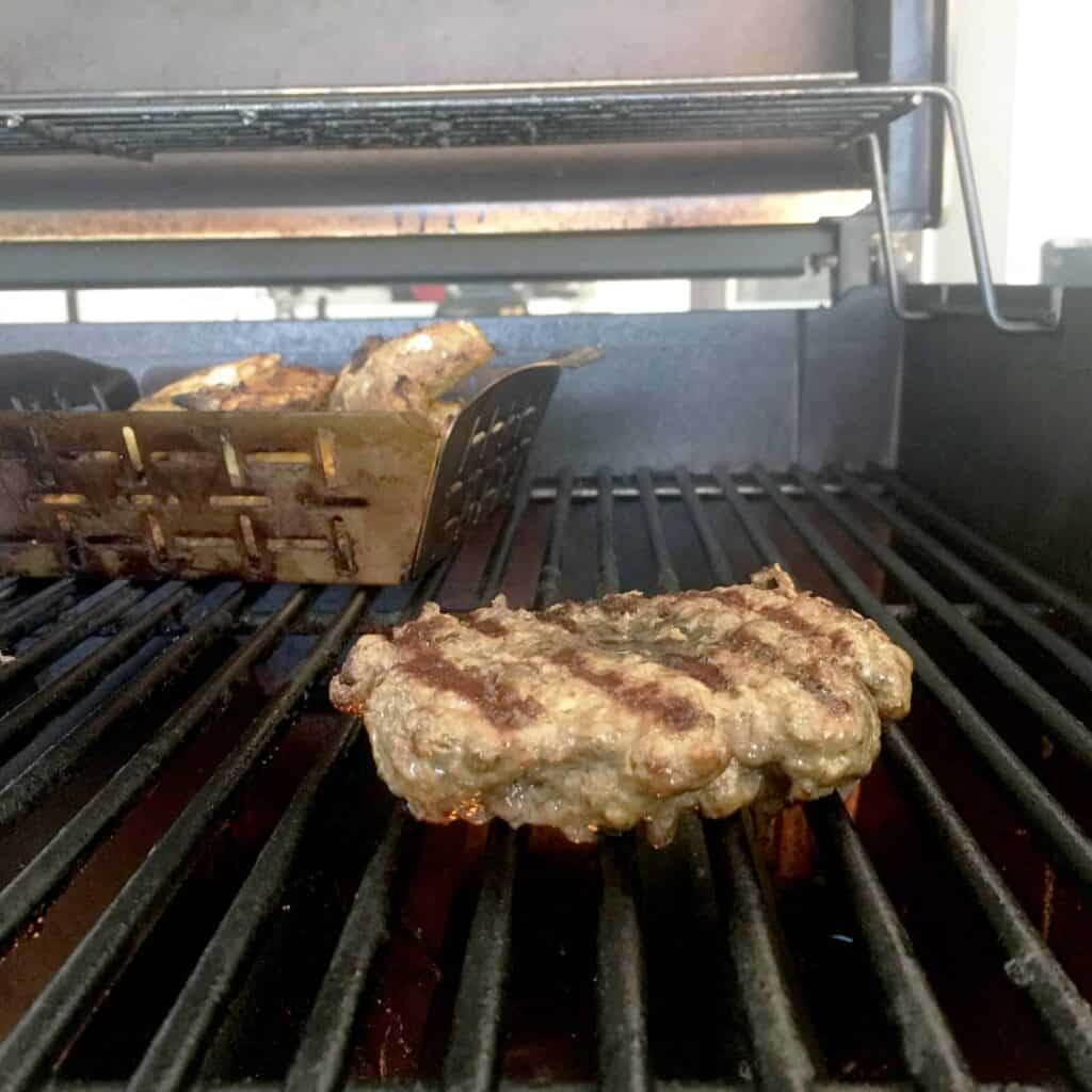 This is a grilling burger