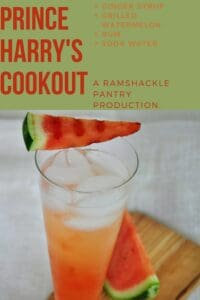 """Prince Harry's Cookout"" with the ingredients of the recipe and my website name"