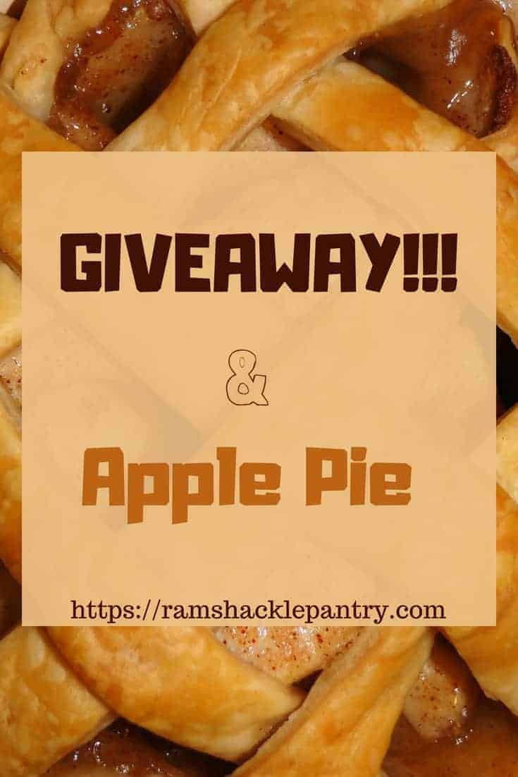 Sign up for our Back To School FOR ADULTS Giveaway and you could be a winner. Oh, and we are talking about apple pie. Seriously, give us a visit. #applepie #giveaway