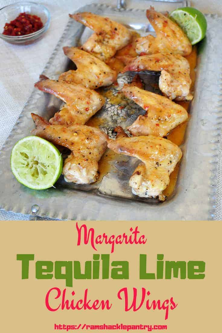 These Margarita Tequila Lime Chicken Wings embody both grilling flavors and a margarita cocktail. This is a fun recipe that can be served with a margarita, beer, or any other drink that goes with summertime flavors. #wings #chicken #tequila