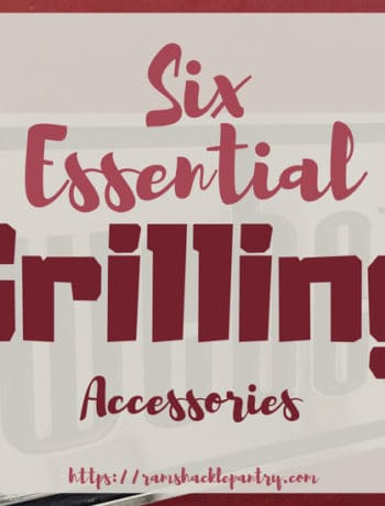 """Six Essential Grilling Accessories"" with the background of a Weber grill"