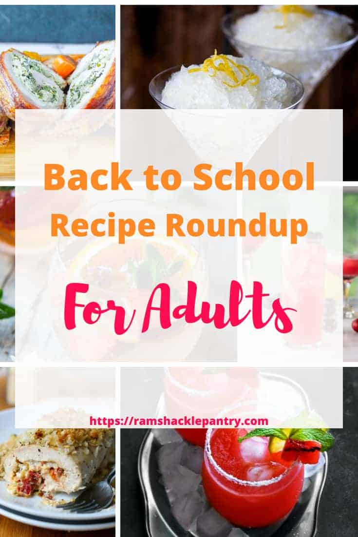 Back to School ALREADY or NOT FAST ENOUGH? You tell me. Either way, this is a recipe roundup that focuses on you... the adult. From boozy adult desserts to goat cheese to margaritas, we want you to have a relaxing fall. Treat yourself with these six great adult recipes. #cocktails #goatcheese #lemon