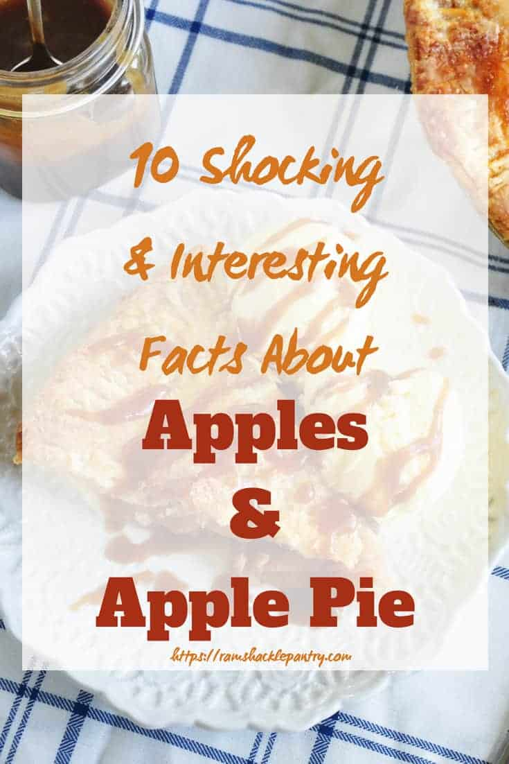 Did you know that Johnny Appleseed mostly was interested in hard cider? Learn about the interesting history of apples and apple pie with this list of 10 shocking and interesting facts. #apples #pie #applepie #history