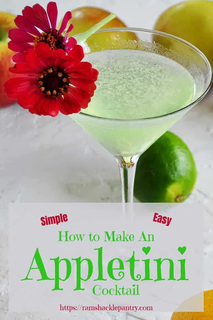 The classic and tasty Appletini. Get this How to Make An Appletini Cocktail guide! It is easy and there is nothing standing between you and this great drink, other than the recipe. Get it! #appletini #vodka #apple #cocktail