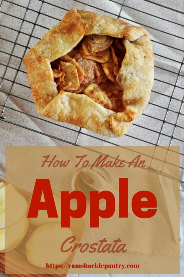 This Apple Crostata is as impressive as pie, but only half the work. This is such a delicious apple recipe that celebrates Italian desserts, apple desserts, and pies. We use a great homemade butter pie crust and fill it with real apples. #apple #crostata #pie #dessert