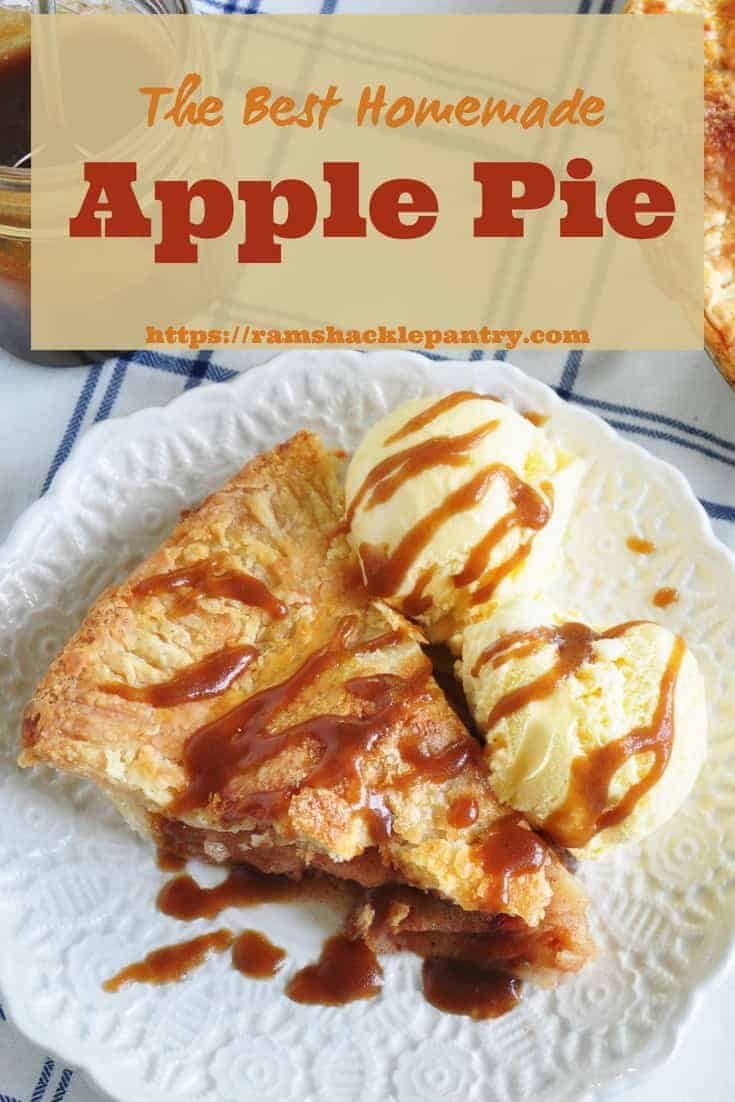 Zen And The Art Of Pie Crust Maintenance. This Homemade Apple Pie recipe with butter pie crust is going to knock your socks off! Not to mention, we add a caramel sauce on top and give you step by step instructions to make the best dang pie crust that is possible. #apples #apple #pie #applepie