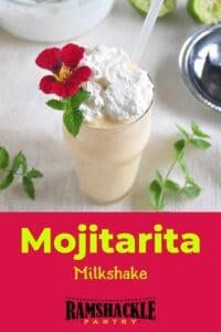 """Mojitarita Milkshake"" with an image of the cocktail above"