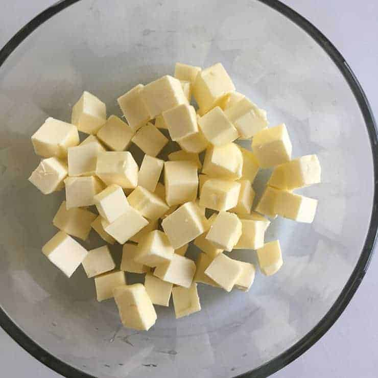 Butter cut into 1/2-inch cubes