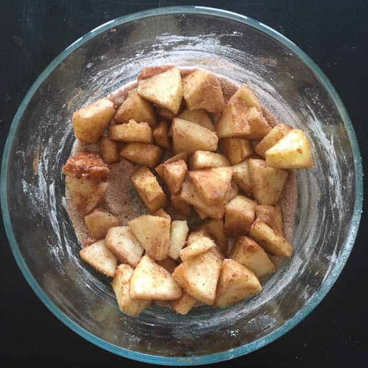 apples mixed for apple hand pies recipe
