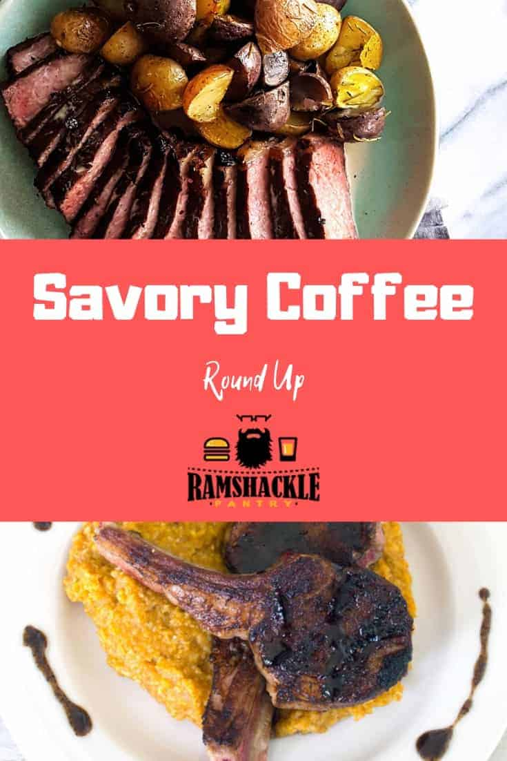 five... count em... FIVE delicious savory coffee recipes for you to try. Coffee and meat is the name of the game and these are some doozies! #coffee