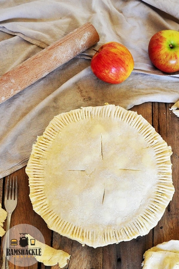 Seriously the Best Butter Pie Crust. It takes a bit of work, but this pie crust recipe is so delicious and worthy of the extra effort! #ramshacklepantry #pie #crust #baking #piecrust