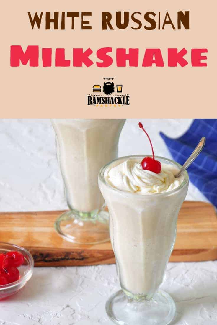 This White Russian Alcoholic Milkshake is a great way to booze up a classic milkshake! All the flavors of the classic cocktail, but with that ice cream yumminess. Whipped cream, cherries, Kahlua, and vodka!