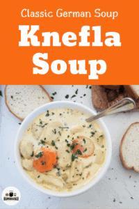 Bowl of Knefla Soup - Classic German Soup