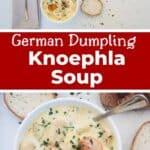 German Dumpling Knoephla Soup