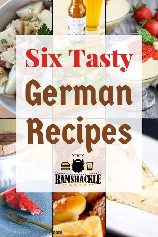 A group of German Recipes that are gotta see. Some classic dishes and interesting cocktails in here for your enjoyment! #ramshacklepantry #german #roundup #kuchen #potato