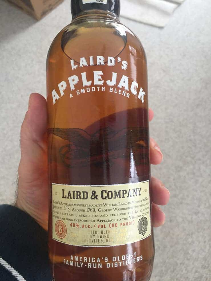 Bottle of Laird's Applejack