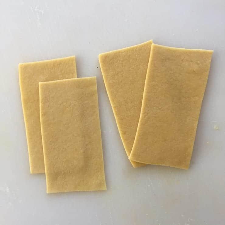 cut maultaschen dough