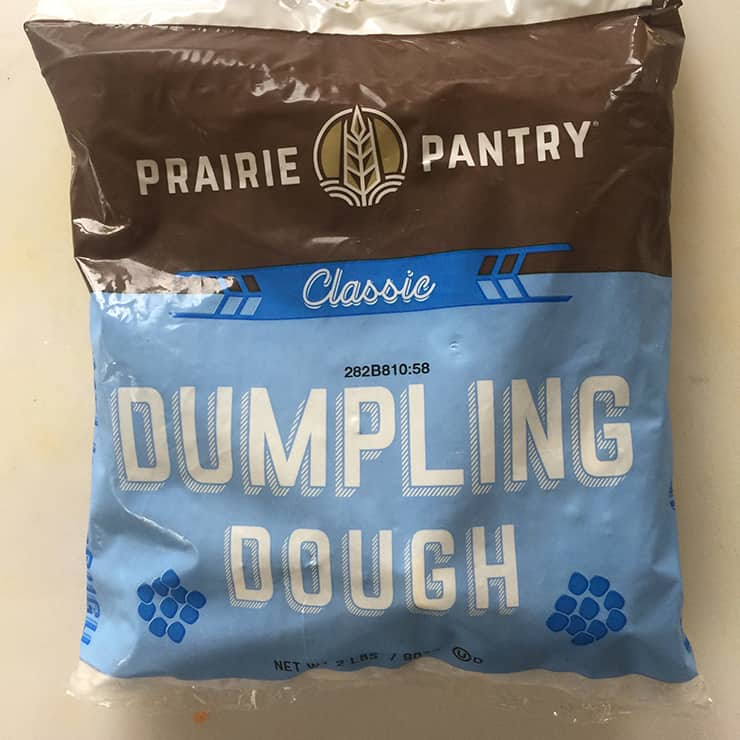 A bag of Prairie Pantry Dumpling Dough