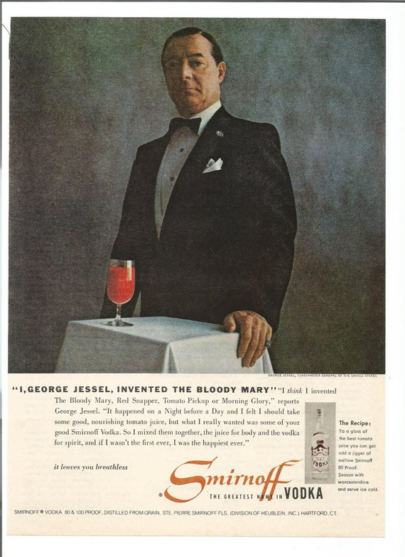 Life Magazine Smirnoff advertisement that talks about the origin of the Bloody Mary