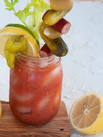 From Scratch Bloody Mary on a platter
