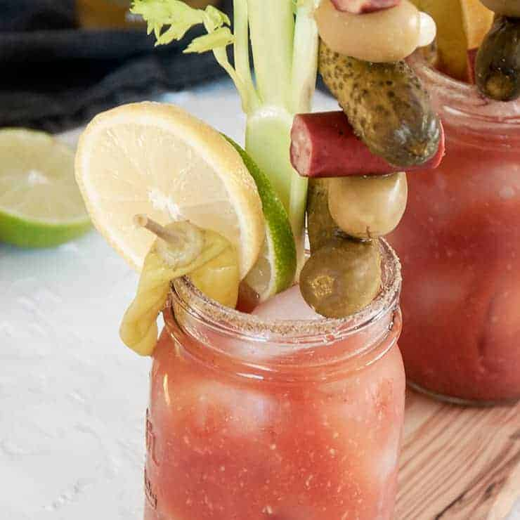 A loaded up bloody mary