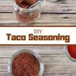 DIY Taco Seasoning with two seasoning