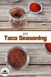 DIY Taco Seasoning with two seasoning